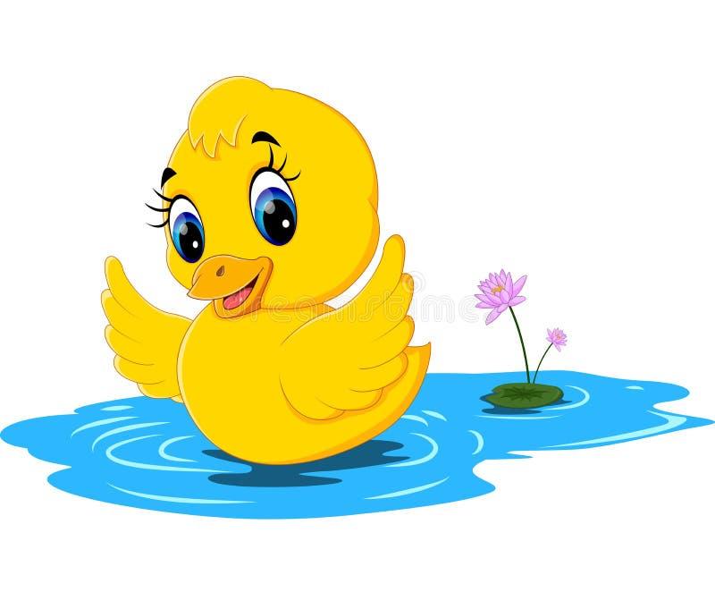 Cute baby duck cartoon stock vector. Illustration of farm ...