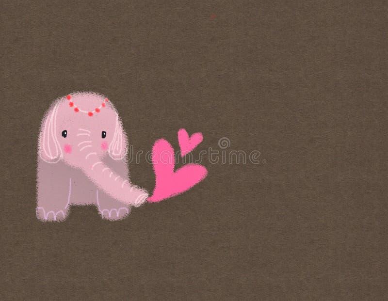 Cute baby elephant cartoon hand drawn illustration vector illustration
