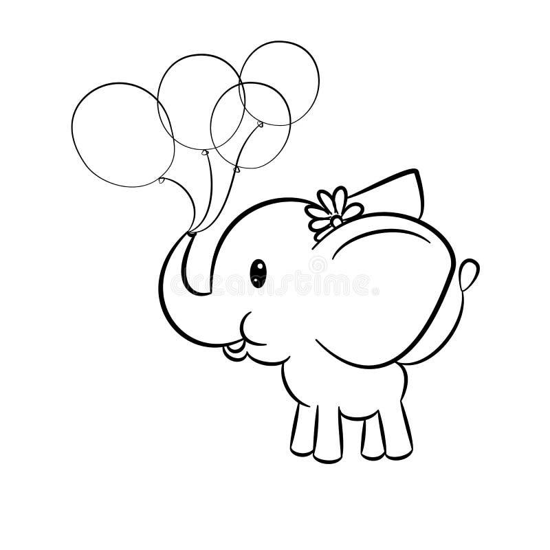 Elephant Colouring Stock Illustrations – 228 Elephant ...