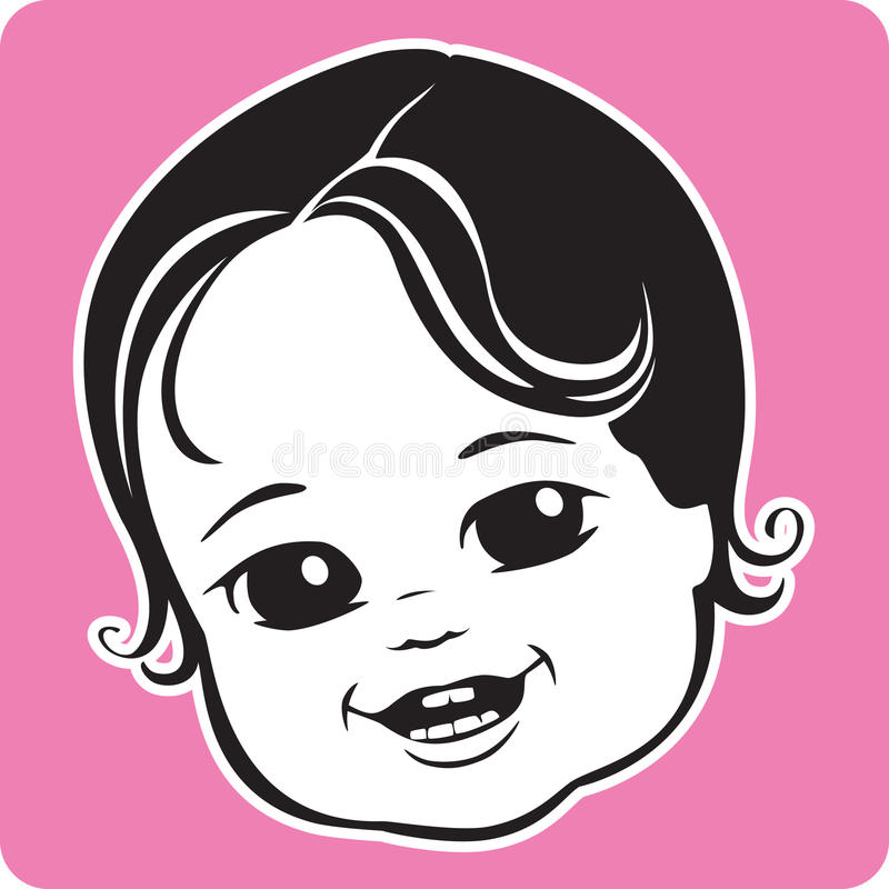 Download Cute Baby Face stock vector. Image of portrait, infant - 11109954