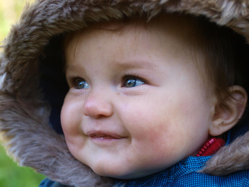Download Cute Baby Face stock image. Image of blue, happy, children - 28962451