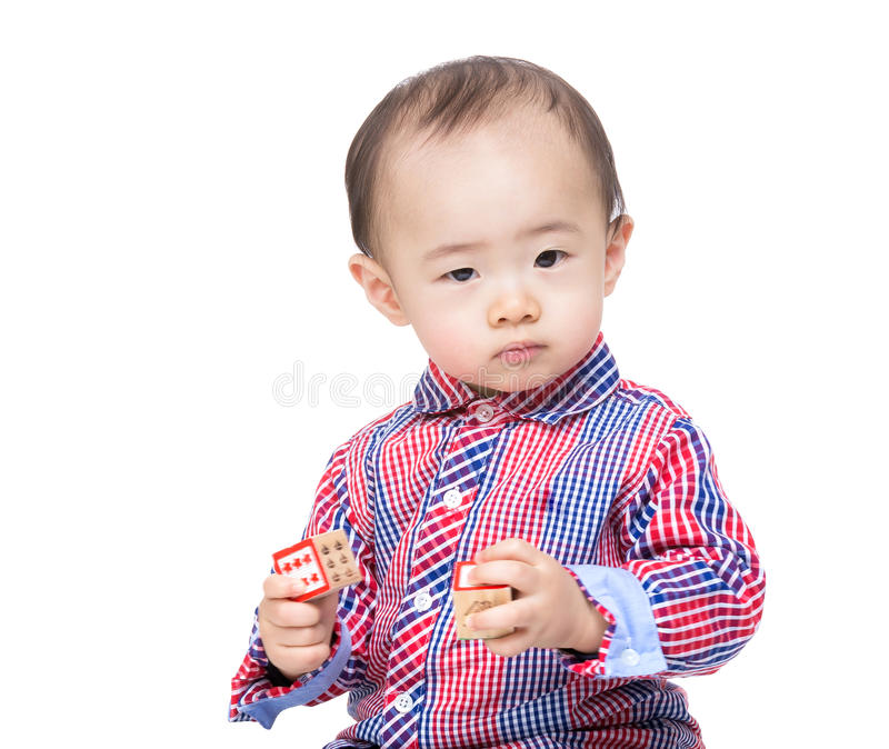 Cute baby feeling confused royalty free stock images