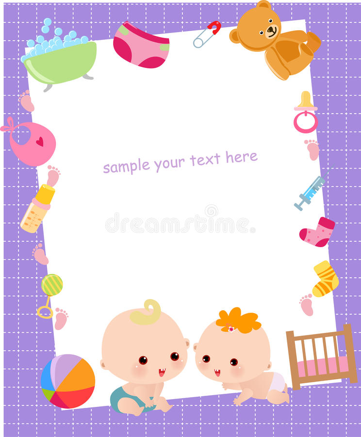 Cute baby frame stock vector. Illustration of cute, funny - 27844517