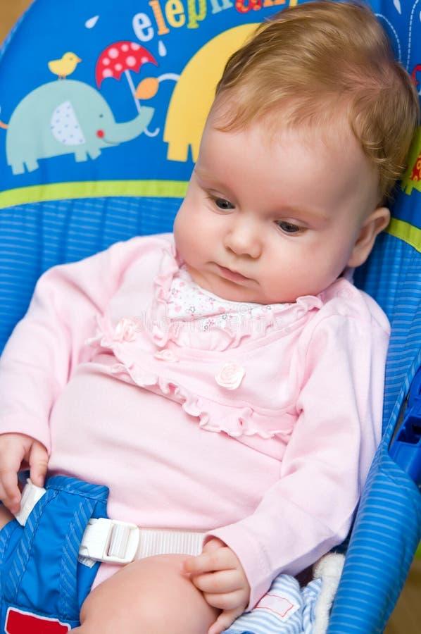Cute baby girl stock photos