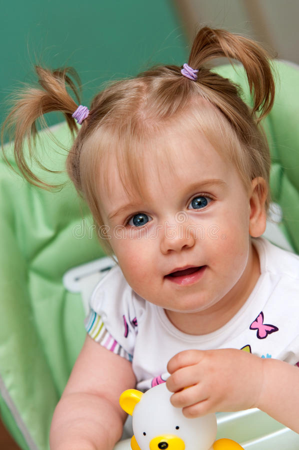 Download Cute baby girl stock photo. Image of cheerful, happy - 20044042