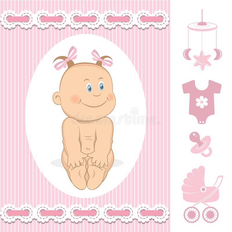 Free Cute Baby Girl Stock Photography - 36057972