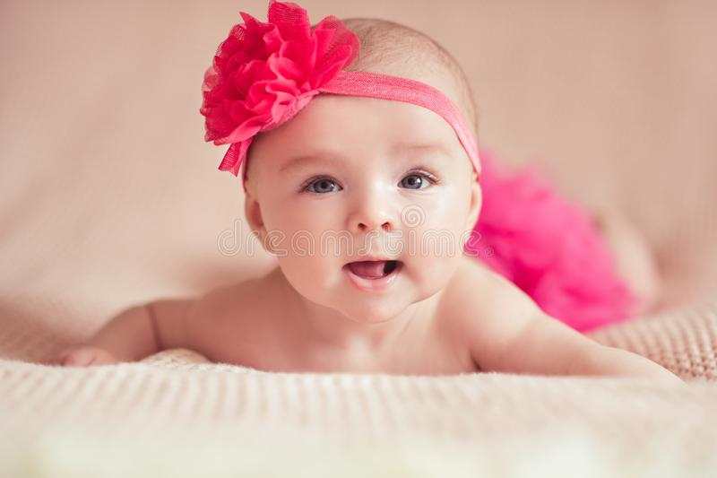 Cute baby girl stock image