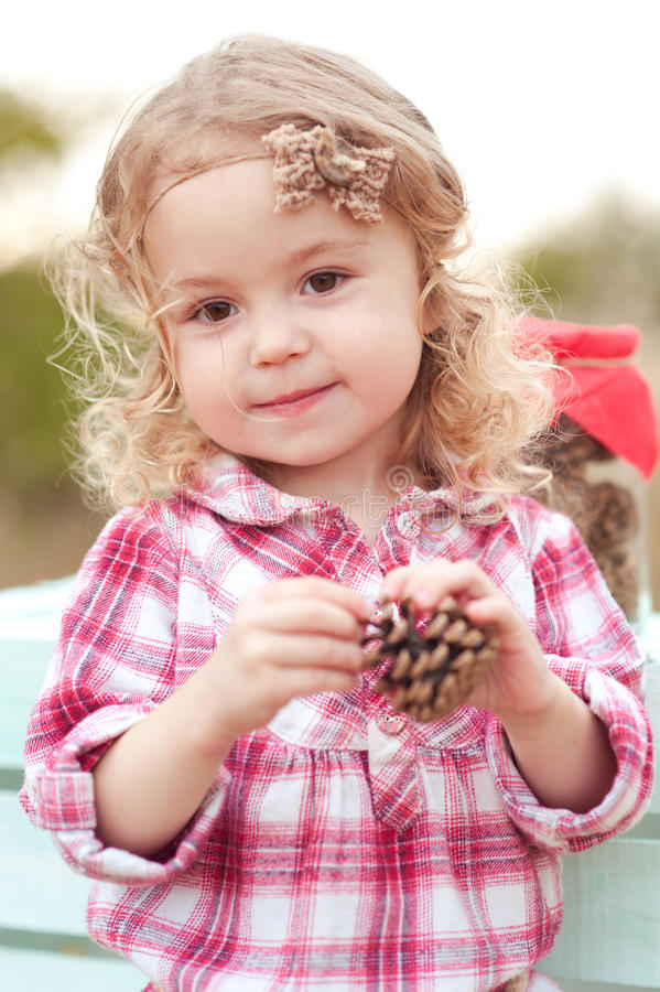 Free Cute Baby Girl Outdoors Stock Photos - 50737013