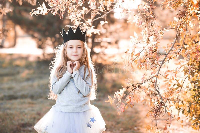 Stylish child outdoors royalty free stock photos