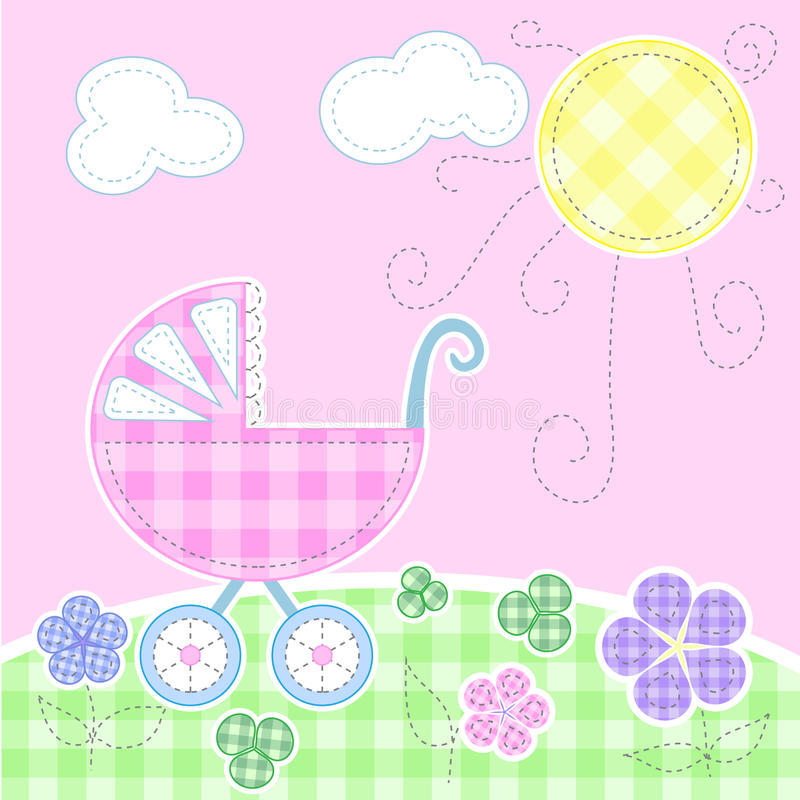 Download Cute baby greeting card stock vector. Illustration of girl - 15426220
