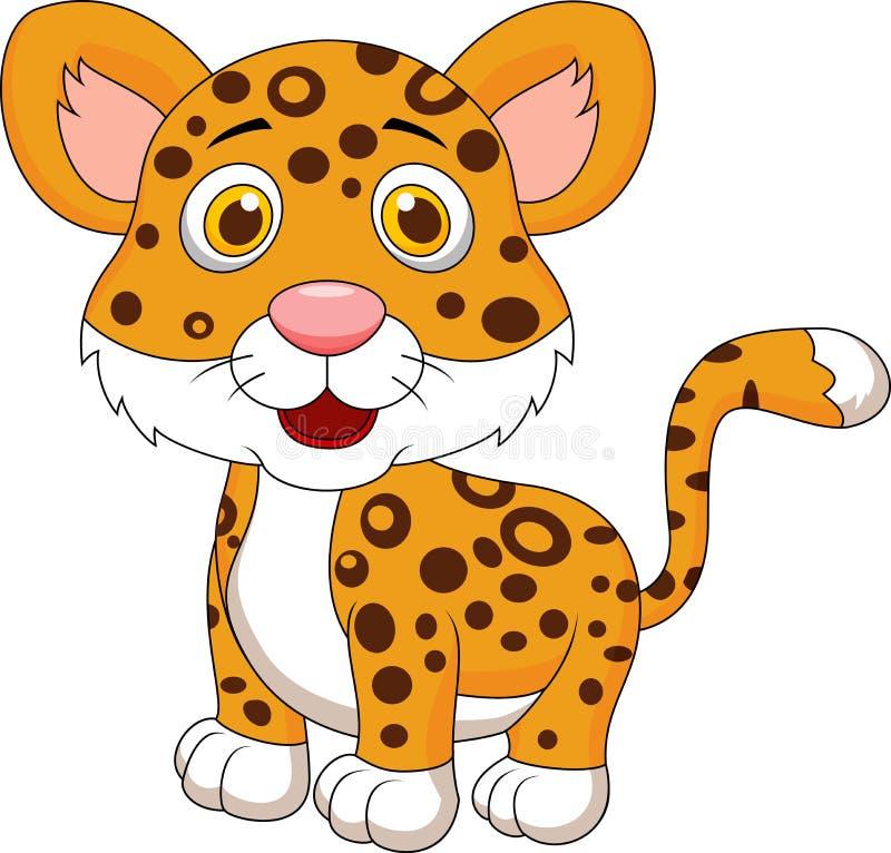 Cute baby jaguar cartoon stock illustration