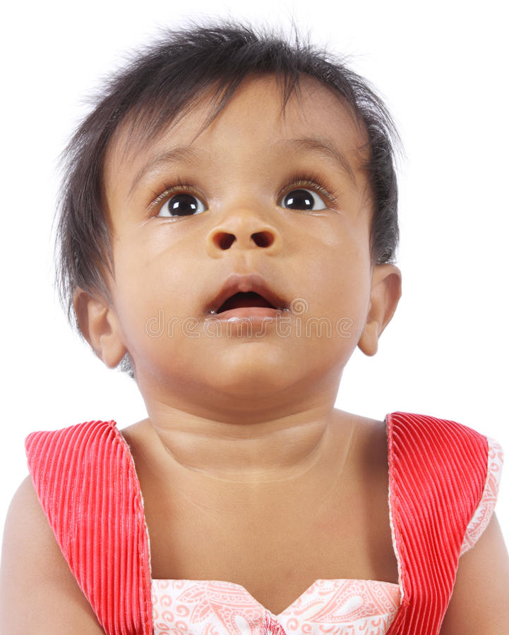 Download Cute Baby Looking up stock photo. Image of kids, soft - 24569332