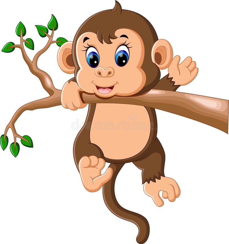 Cute baby monkey cartoon stock vector. Illustration of ...