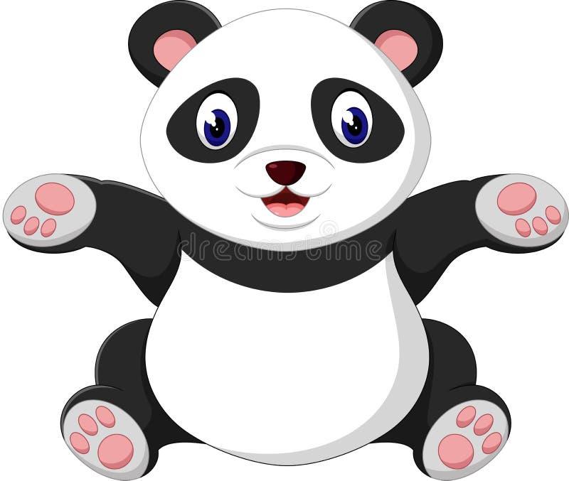 Favoritos Cute baby panda cartoon stock illustration. Illustration of  LR21