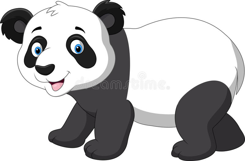 Cute baby panda cartoon stock illustration