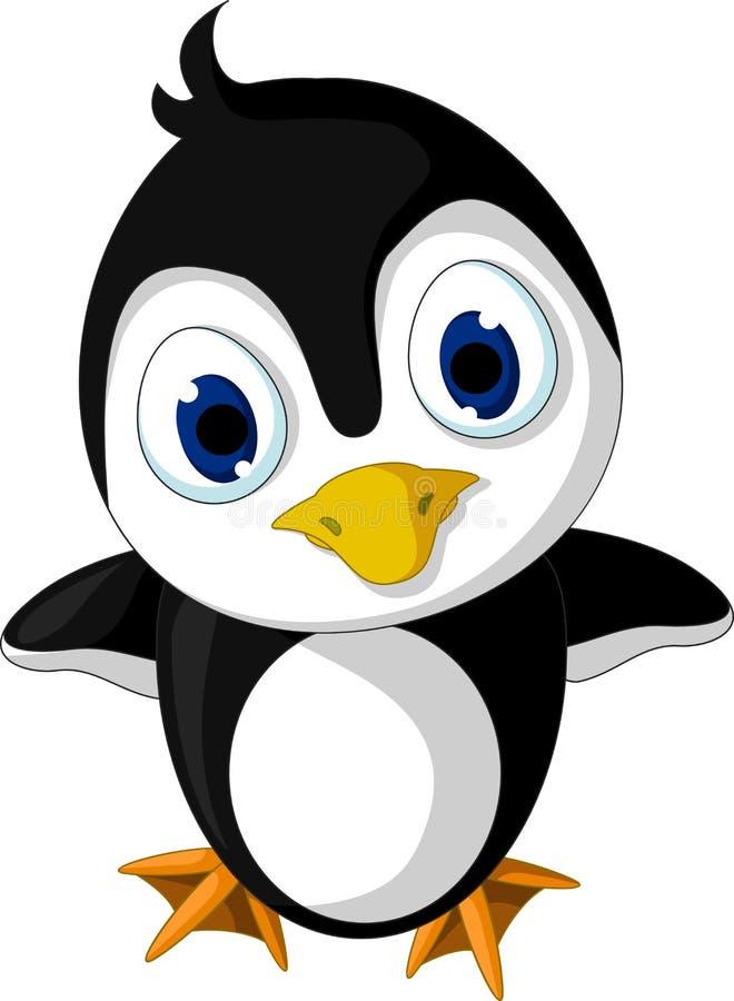 Cute baby penguin cartoon posing