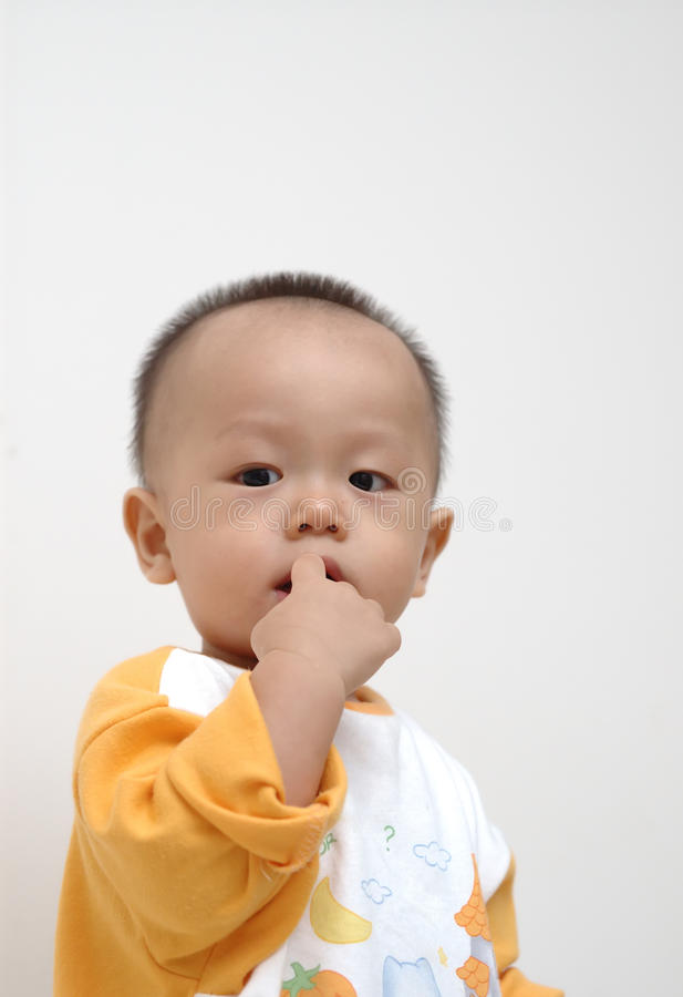 Download Cute baby portrait stock image. Image of hand, chinese - 11563437