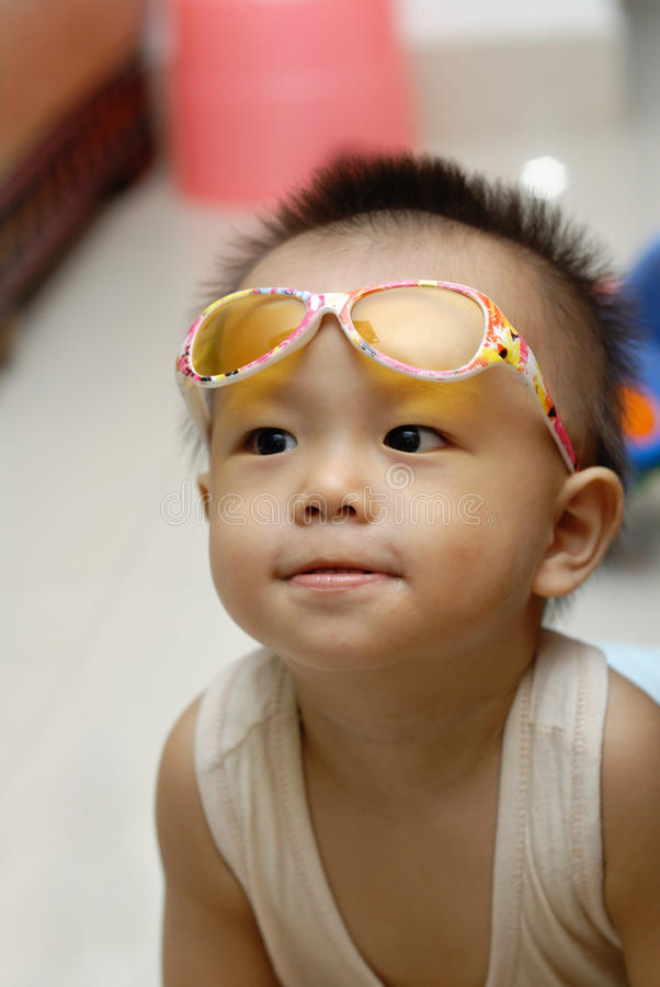 Cute Baby Portrait Stock Image