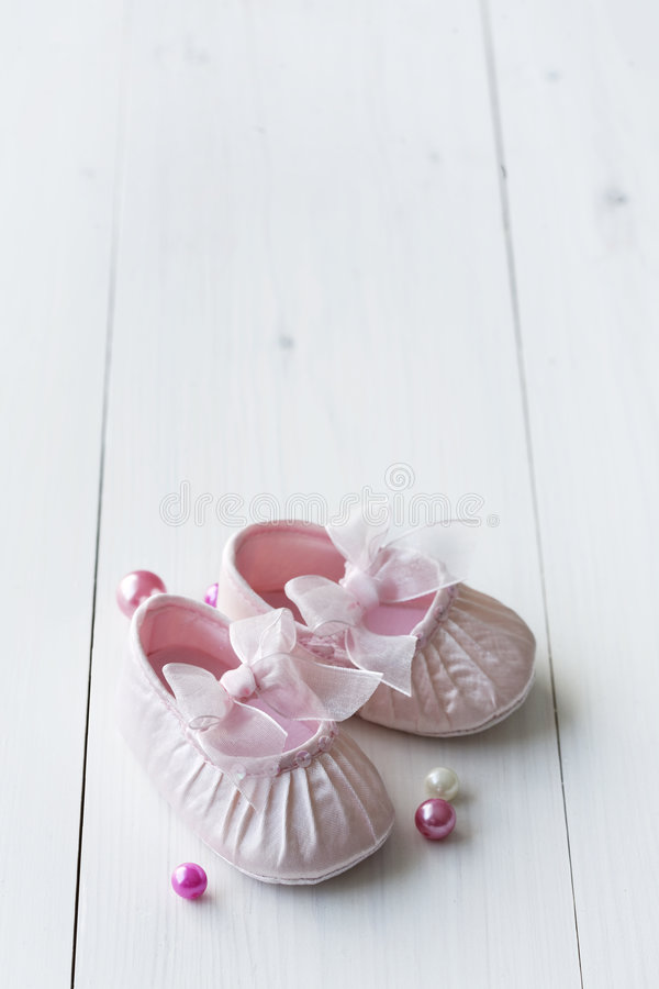 Cute baby shoes royalty free stock photography