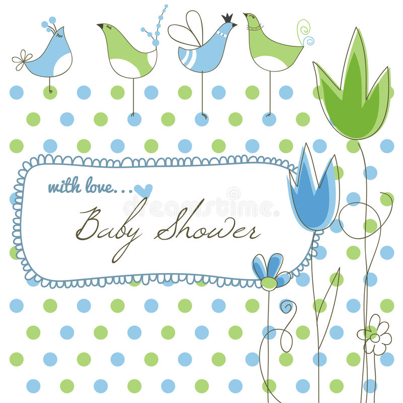 Cute baby shower royalty free illustration