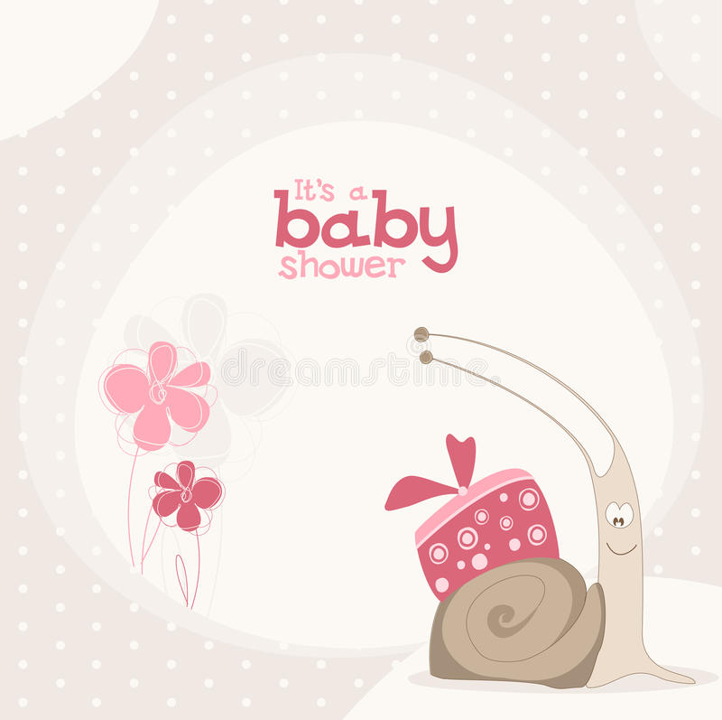Cute baby shower design. stock images