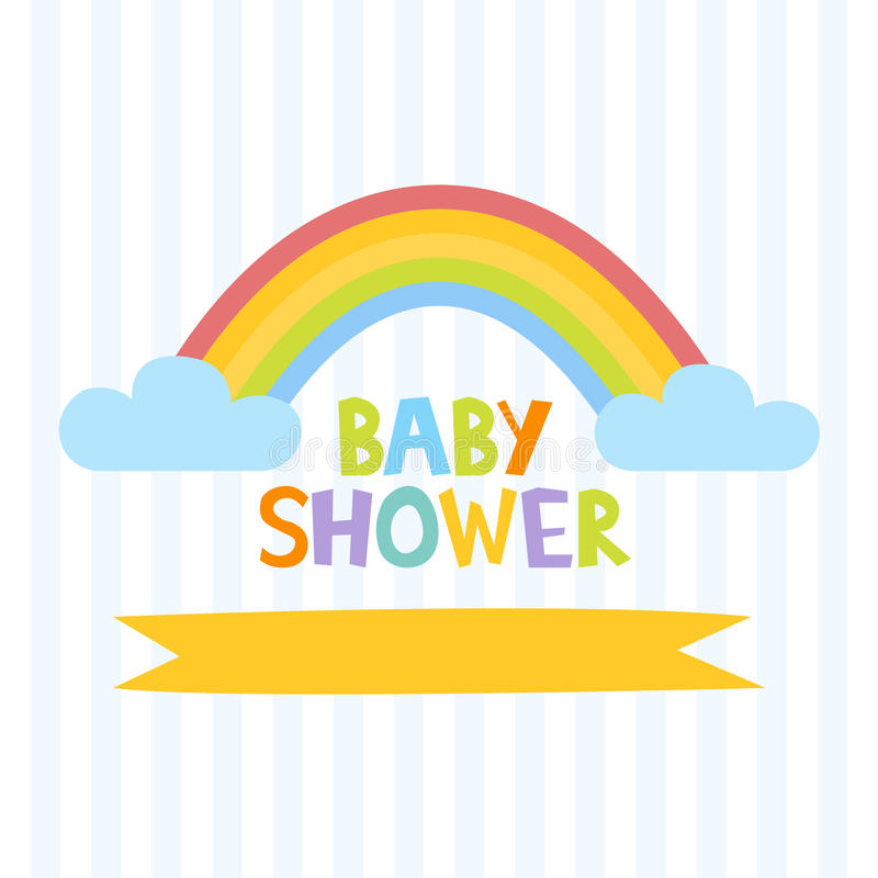baby shower letters baby shower invitation template with letters and 20541 | cute baby shower invitation template letters rainbow vector illustration 86546129