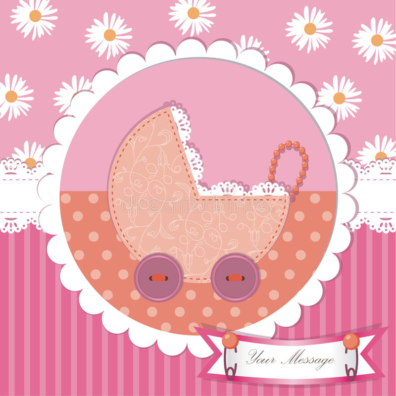 Cute Baby Shower And Scrapbook Design Stock Vector Illustration Of