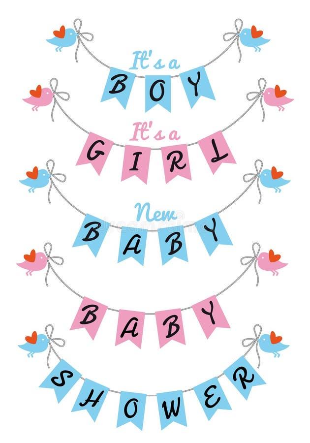 Cute baby shower, vector design royalty free illustration