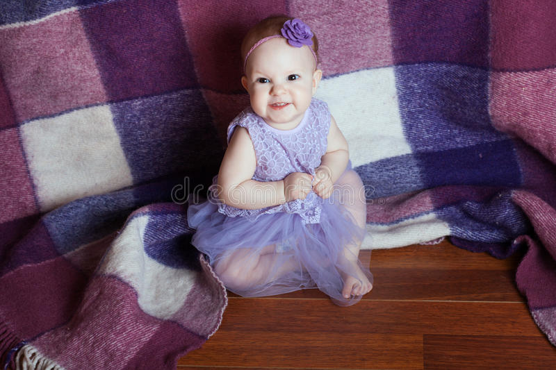 Cute baby smiling royalty free stock photo