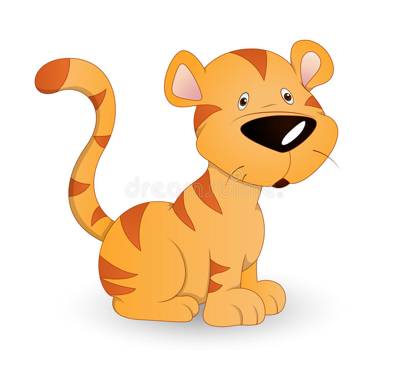 Cute Baby Tiger. Conceptual Design Art of Cute Baby Tiger Cub Vector Illustration vector illustration