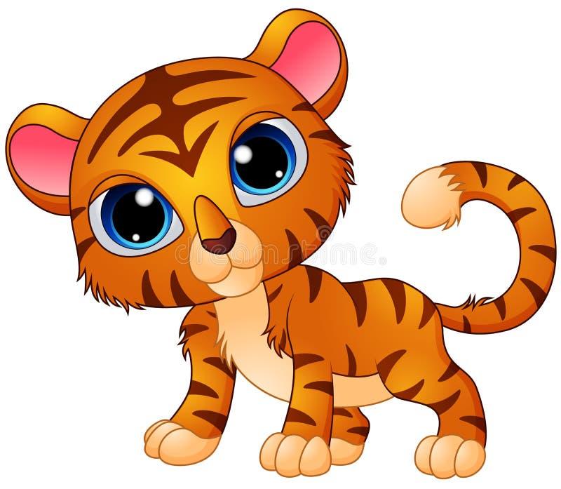 Cute baby tiger cartoon. Illustration of Cute baby tiger cartoon vector illustration