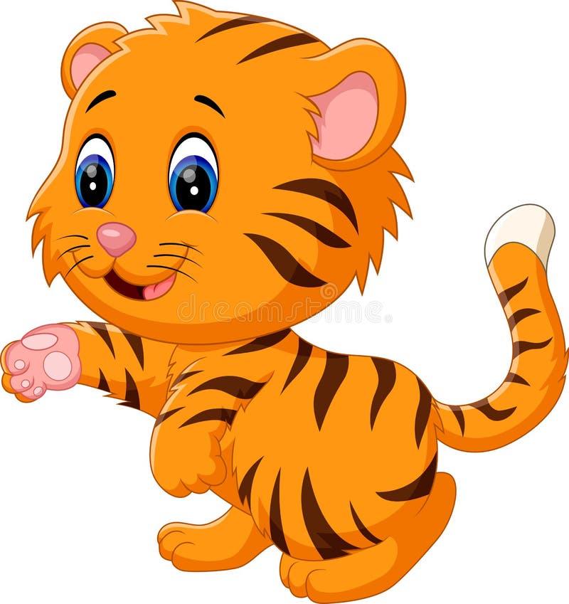 Cute baby tiger. Illustration of cute baby tiger vector illustration