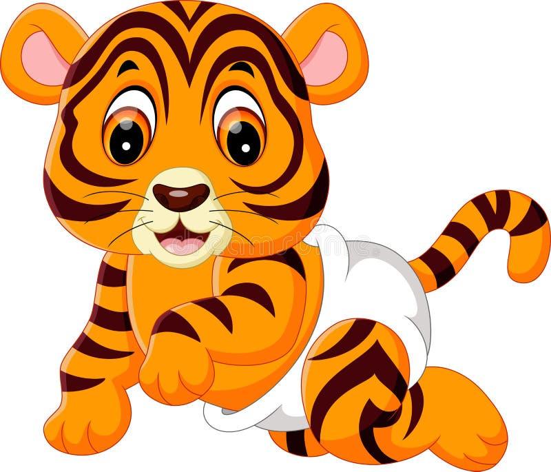 Cute baby tiger. Illustration of cute baby tiger stock illustration