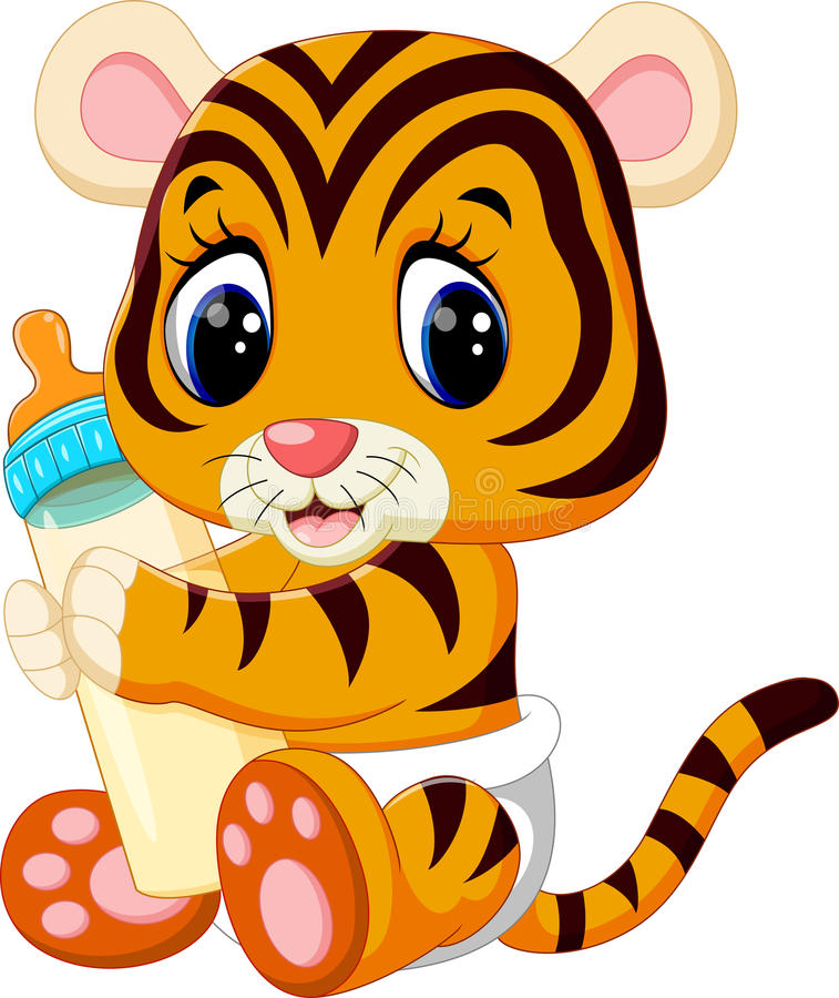 Cute baby tiger. Illustration of cute baby tiger royalty free illustration