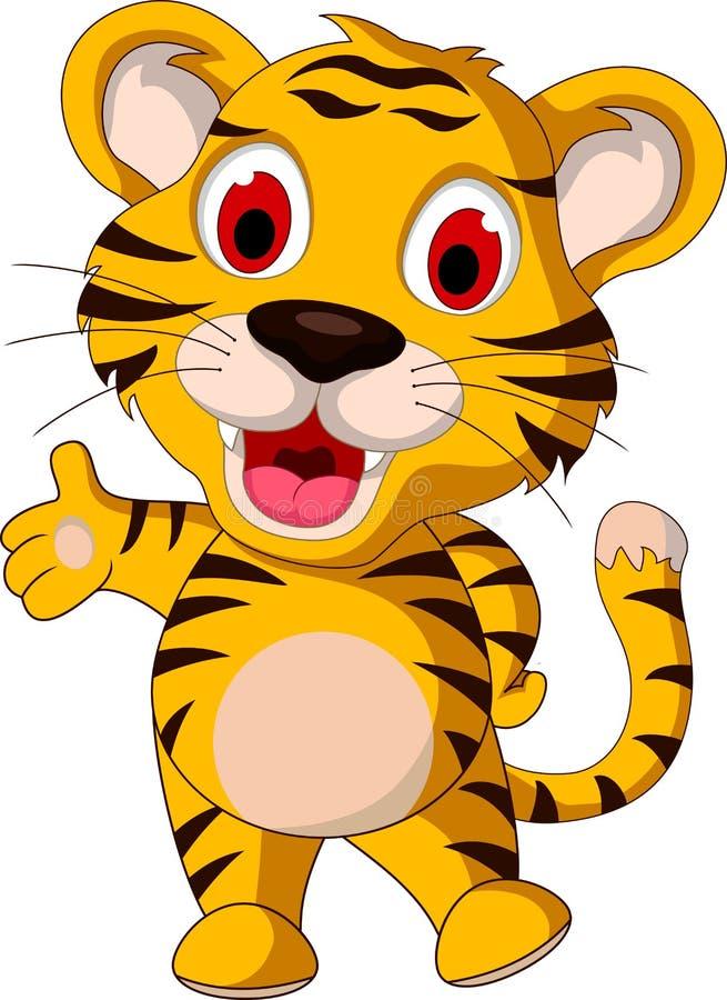 Cute baby tiger posing. Illustration of cute baby tiger posing vector illustration