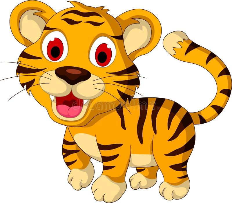 Cute baby tiger walking. Illustration of cute baby tiger walking vector illustration