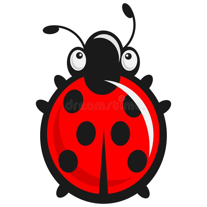 Cute babyish Ladybug - baby illustration royalty free illustration