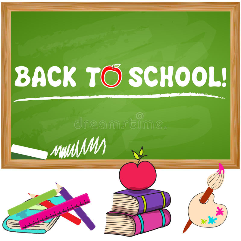 Cute back to school illustration royalty free illustration