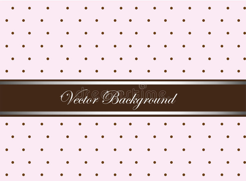 Cute background. Pink and brown cute with circles background. vector royalty free illustration