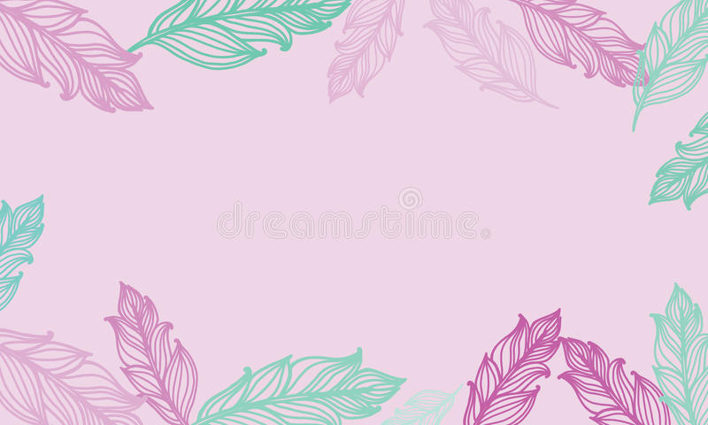 Cute background with feathers vector card design with border in download cute background with feathers vector card design with border in bohemian style stock voltagebd Choice Image