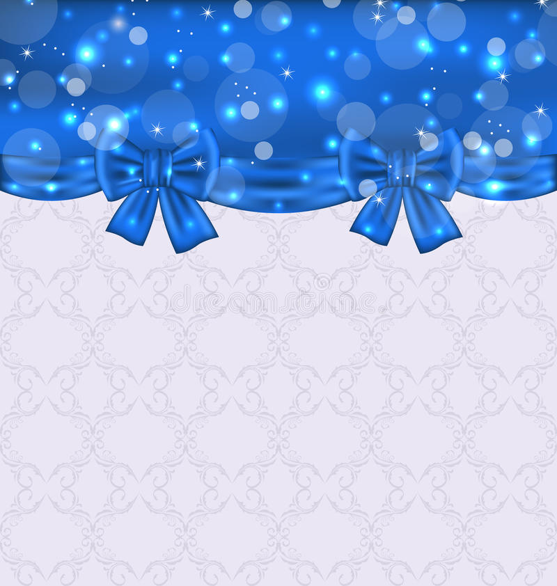 Download Cute Background With Ribbon Bows Stock Illustration - Image: 30751266