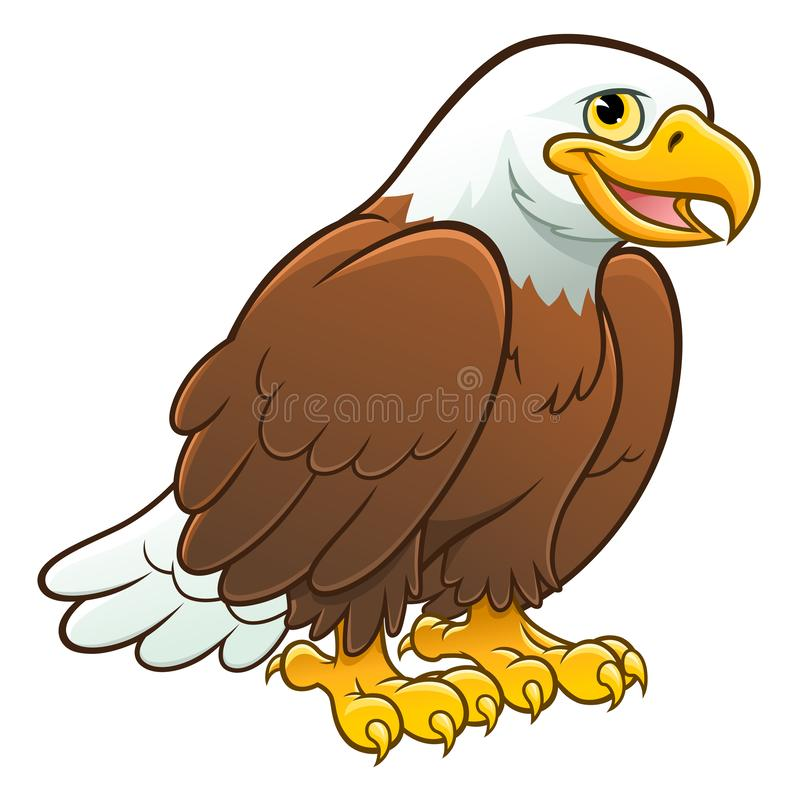 Cute bald eagle royalty free illustration