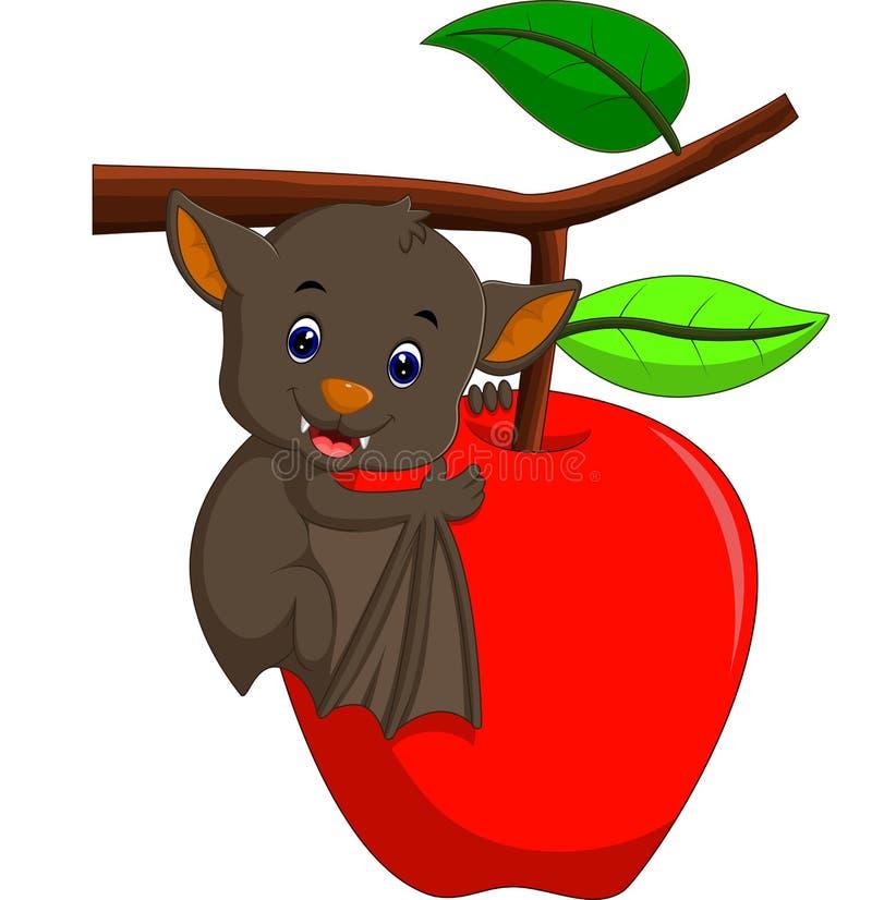 Cute bat cartoon royalty free illustration