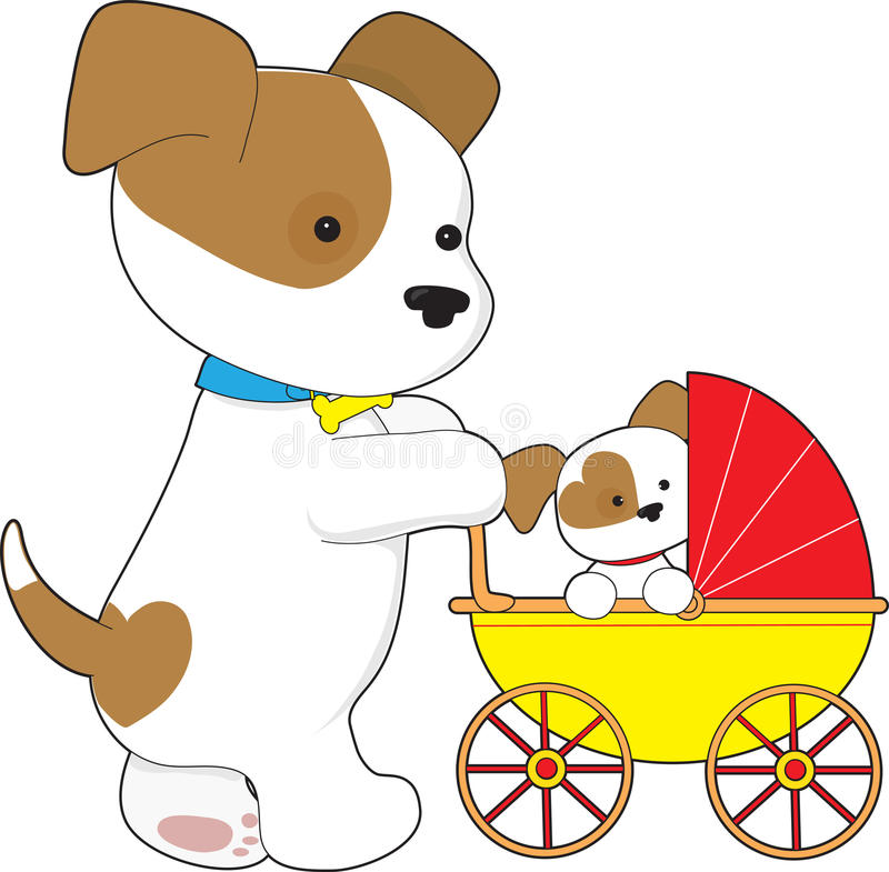 Download Cute bay Baby Carriage stock vector. Image of clip, carriage - 18628024