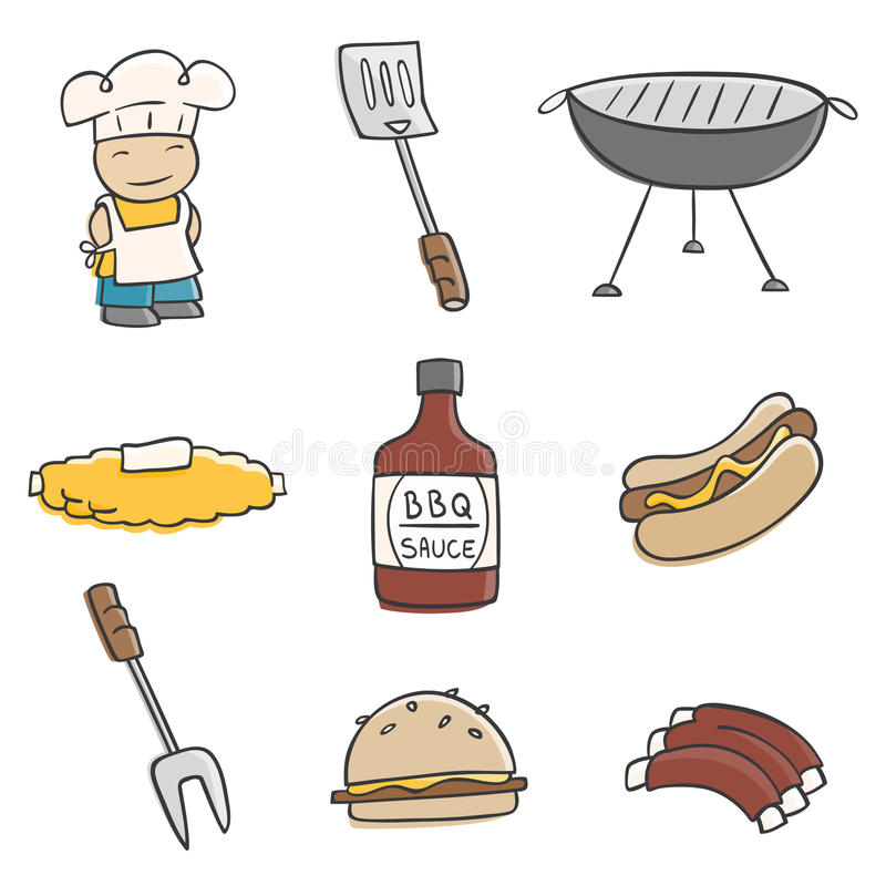 Download Cute BBQ stock vector. Illustration of barbeque, barbecue - 16626040
