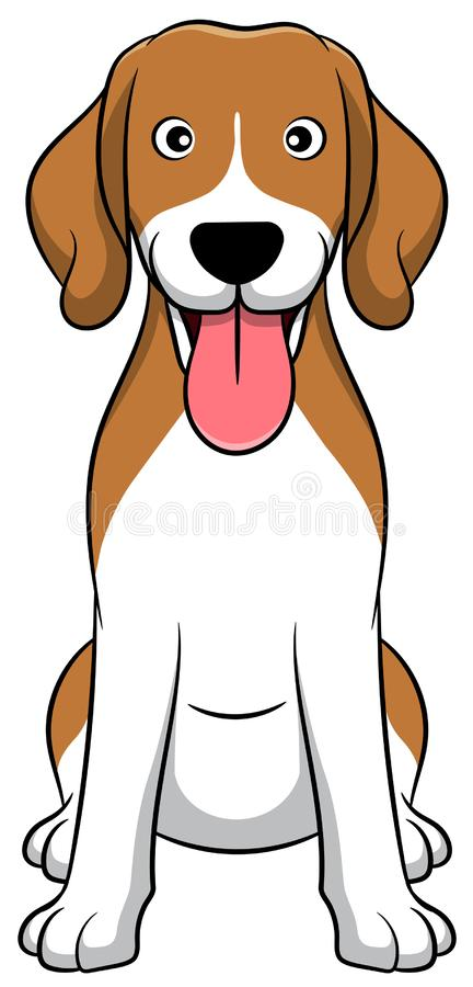 Cute Beagle Cartoon Dog. Beagle Puppy vector illustration