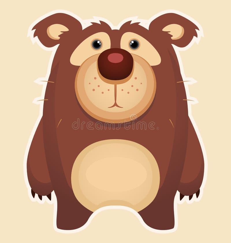 Download Cute Bear stock vector. Illustration of melancholia, wildlife - 25544037