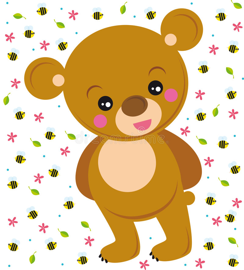 Cute bear vector illustration
