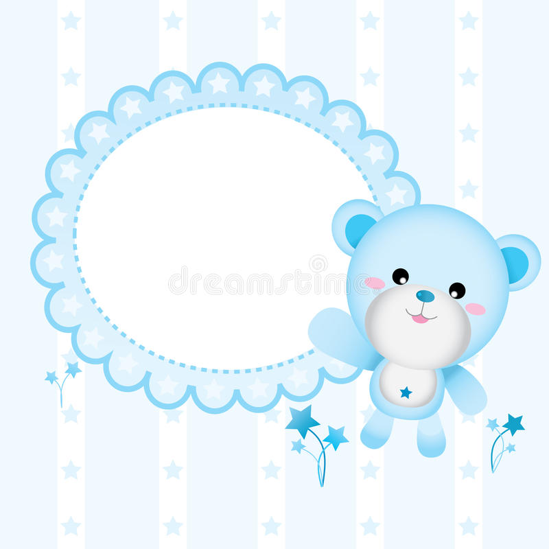 Download Cute Bear for Baby Boy stock vector. Image of blue, cartoon - 20001549