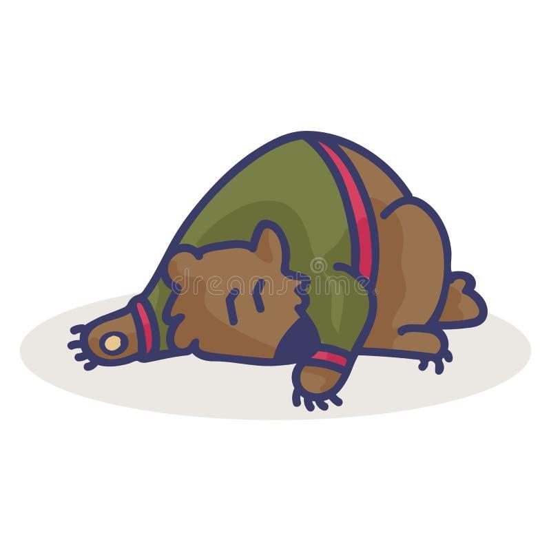 Cute bear cartoon vector illustration motif set stock illustration